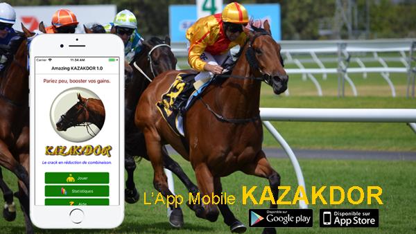 KAZAKDOR l'App qui vousfait gagner autiercé,quarté,quinté PMU.